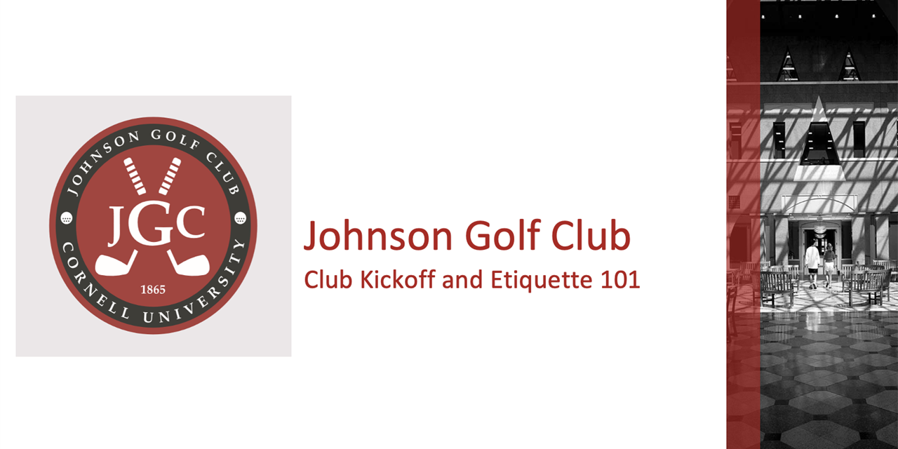 Golf Club - Kickoff and Etiquette Event Logo