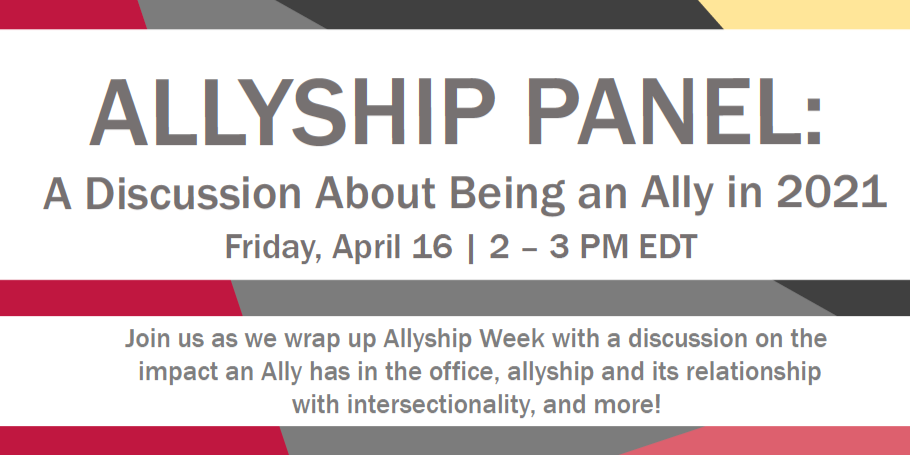 Allyship Panel: A Discussion About Being an Ally in 2021 Event Logo