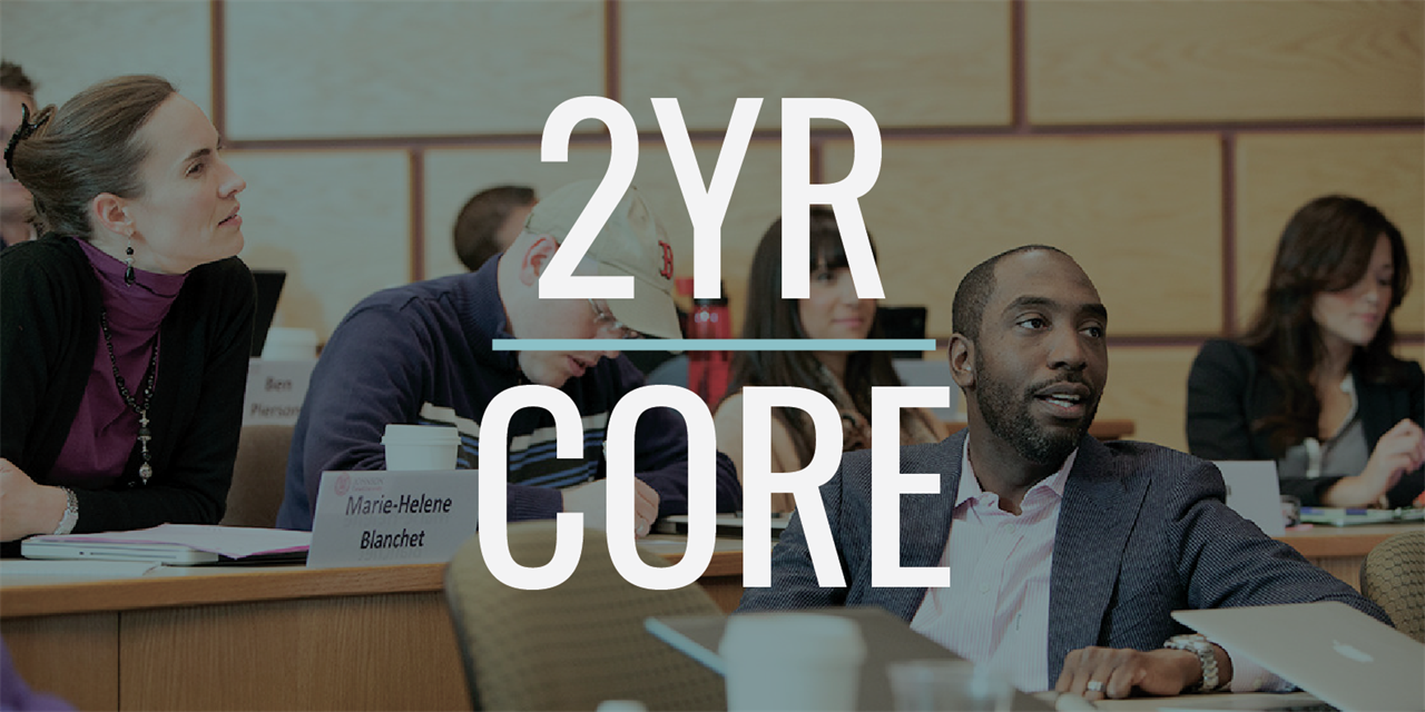 Core Classes: 2YR MBA Class of 2022 Event Logo