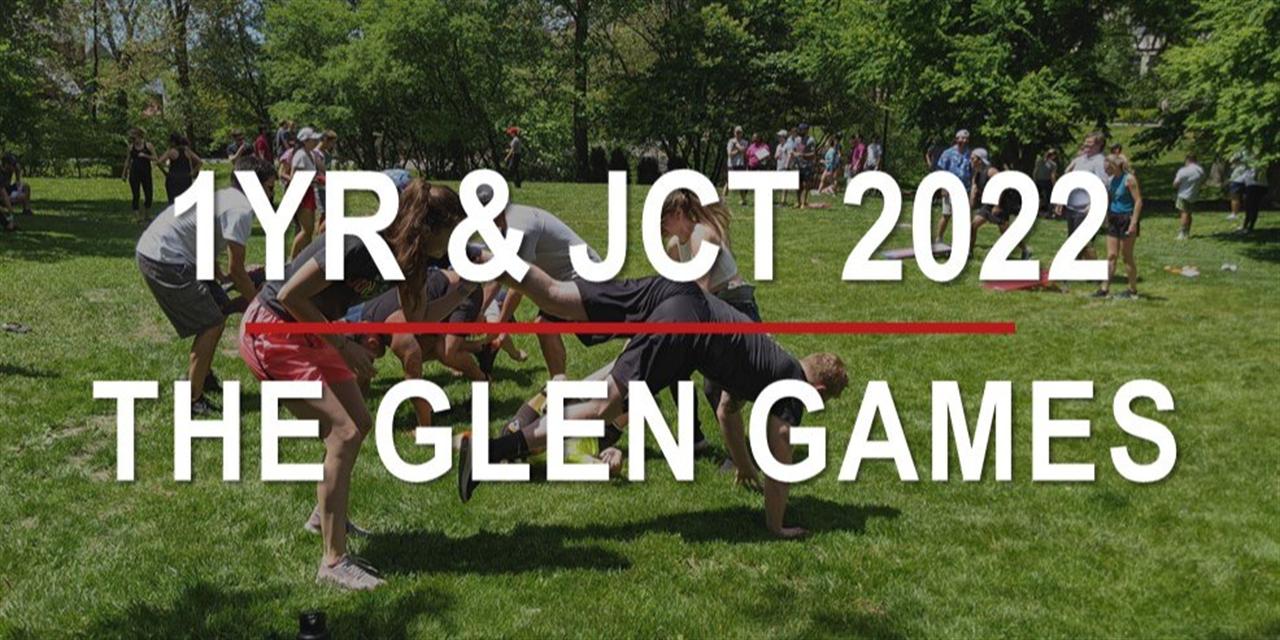 The Glen Games: 1YR & JCT MBA 2022 Event Logo