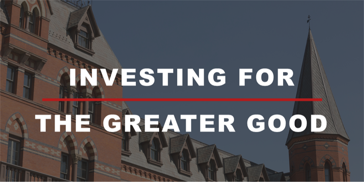 Investing for the Greater Good - Endowment and Foundation Portfolio Management Event Logo