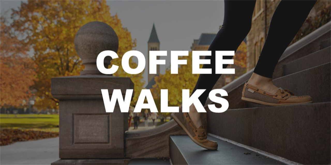 In-Person Coffee Walks with Dean Pascarella (Meet in the Sage Hall Atrium) Event Logo