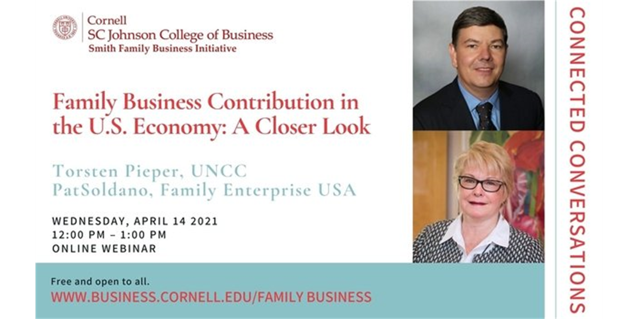 Connected Conversations: Family Businesses Contribution to the U.S. Economy: A Closer Look Event Logo