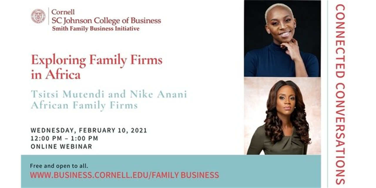 Connected Conversations: Exploring Family Firms in Africa Event Logo