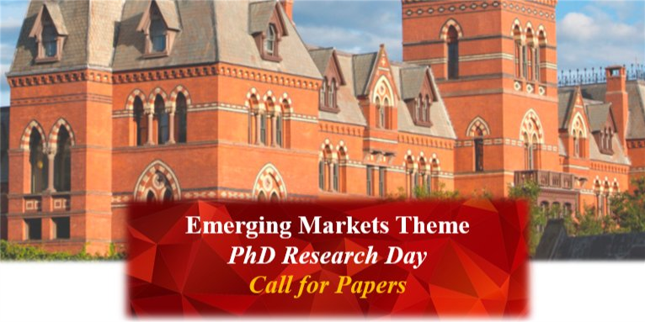 Emerging Markets Theme - PhD Research Day Event Logo