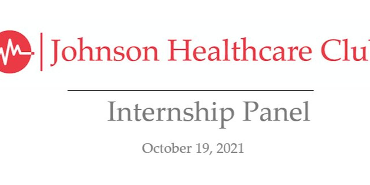 Healthcare Club Internship Panel Event Logo