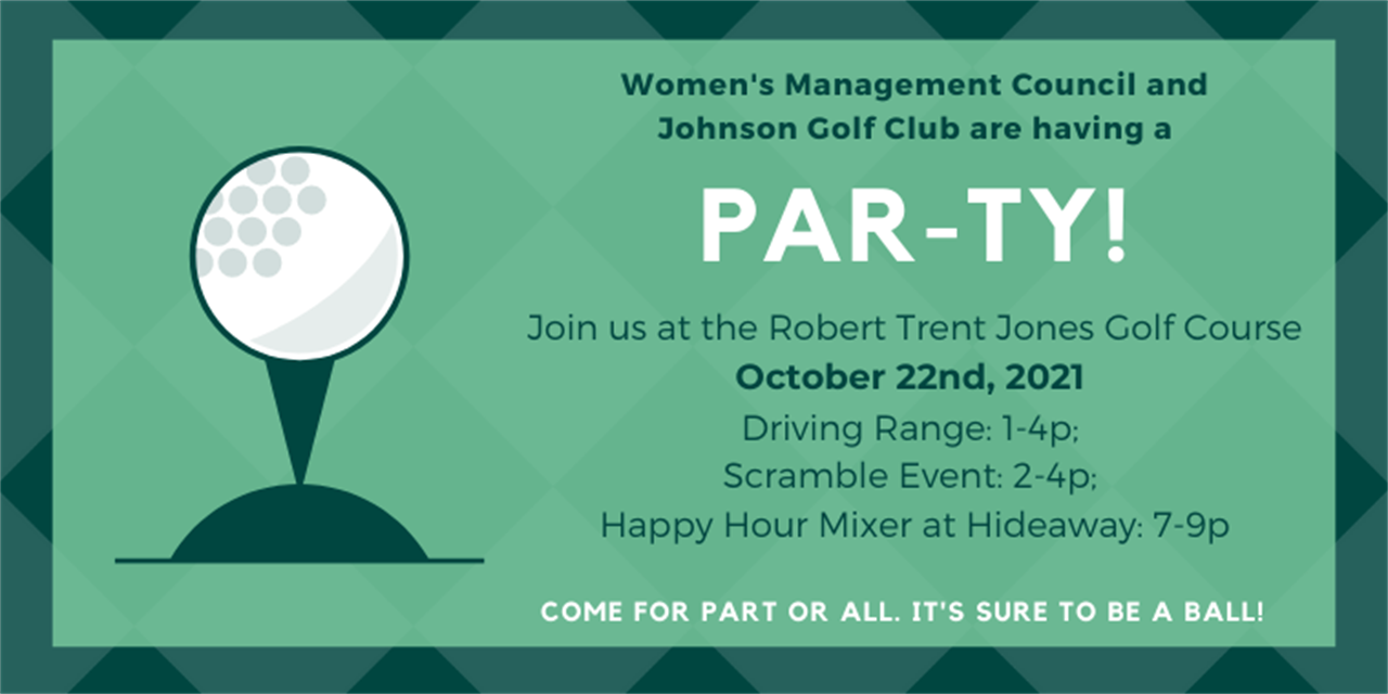 Women's Management Council x Golf Club SCRAMBLE Event Logo