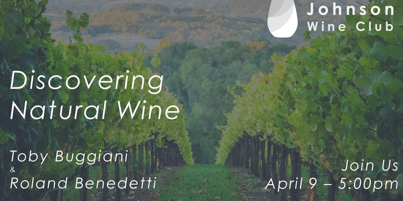 Discovering Natural Wine - with Toby Buggiani and Roland Benedetti Event Logo