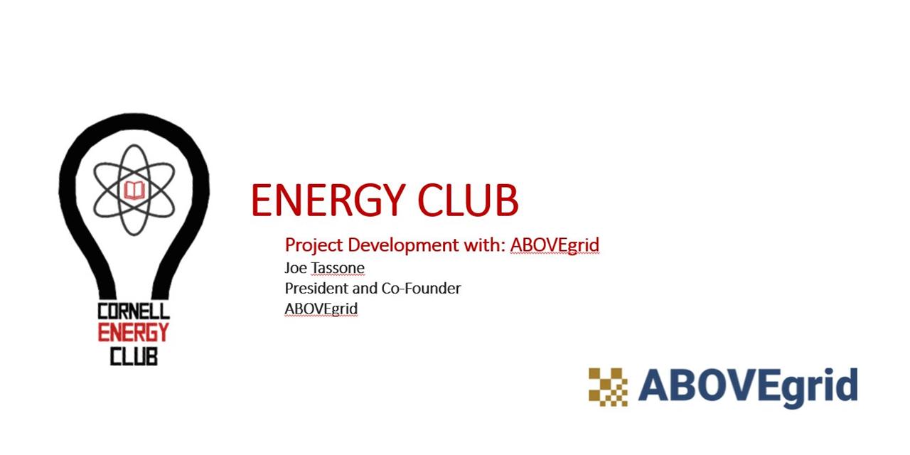 Energy Club, Meeting #4, Project Development w/ ABOVEgrid Event Logo