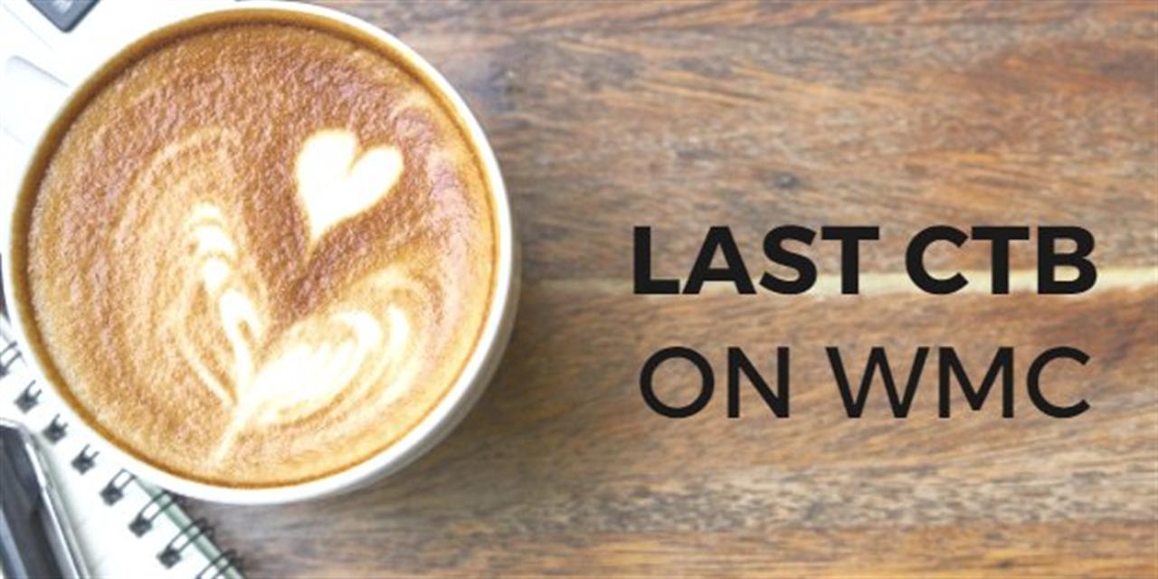 Last CTB Coffee on WMC Event Logo