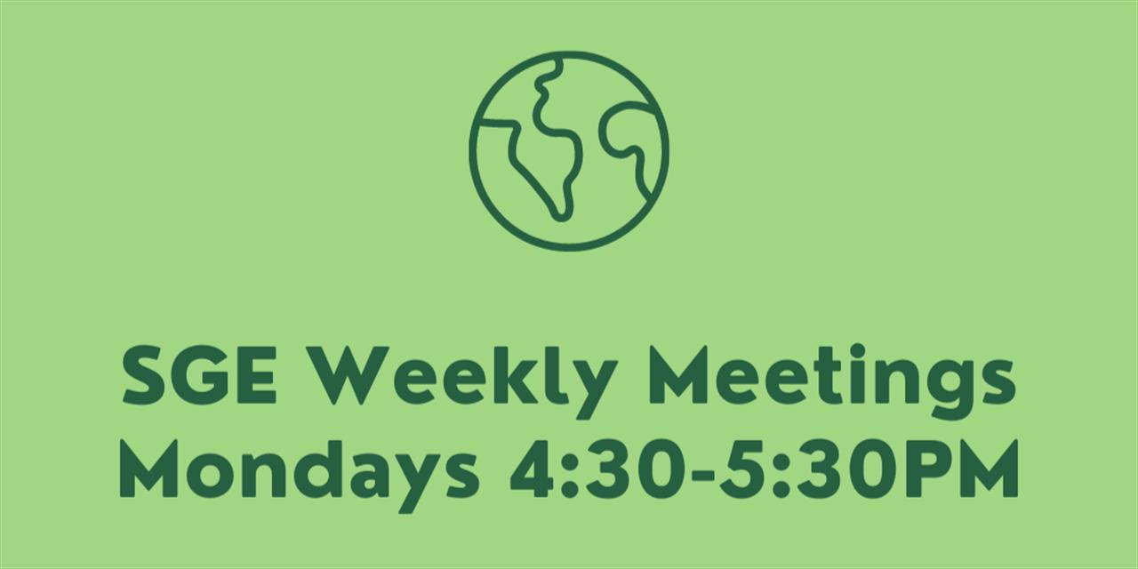 SGE Club Meeting Week 4 Event Logo