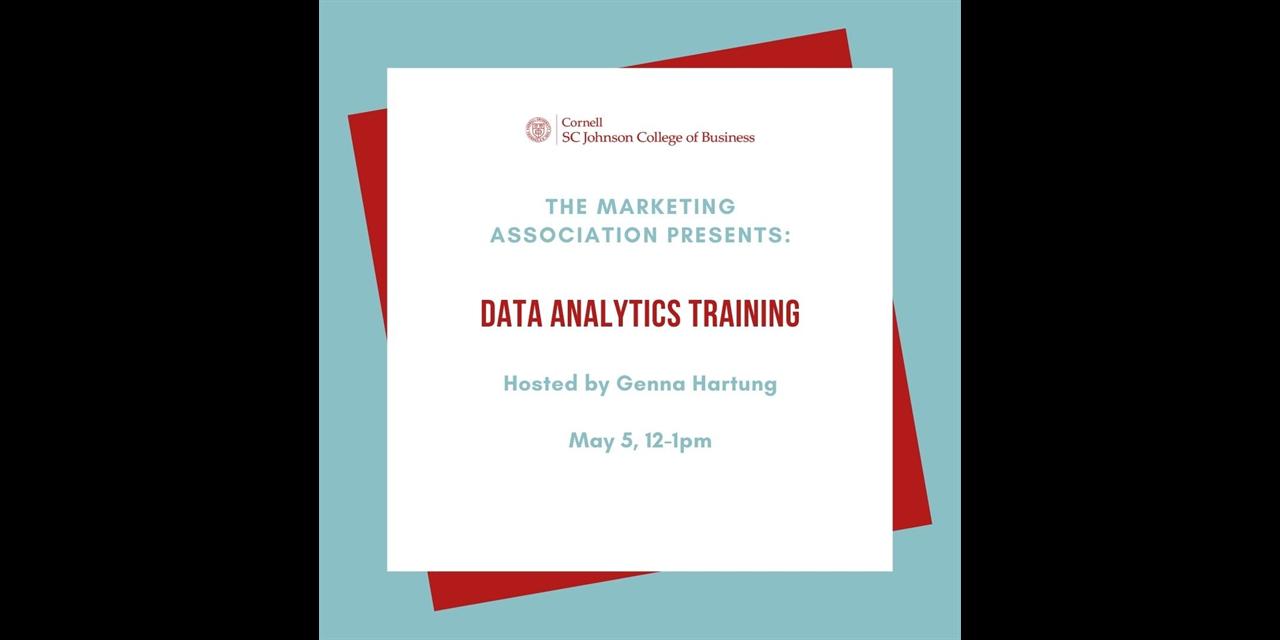Data Analytics Training Event Logo