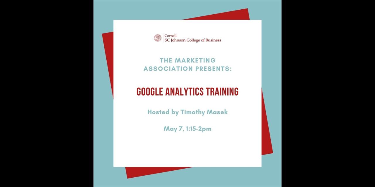 Google Analytics Training Event Logo