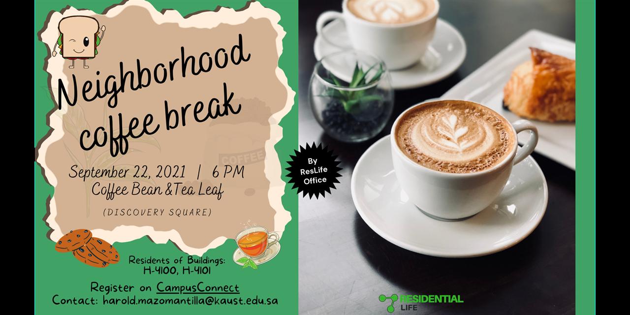 Neighborhood coffee break Event Logo