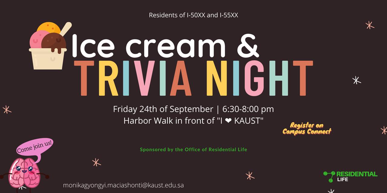 Ice cream and Trivia Night Event Logo