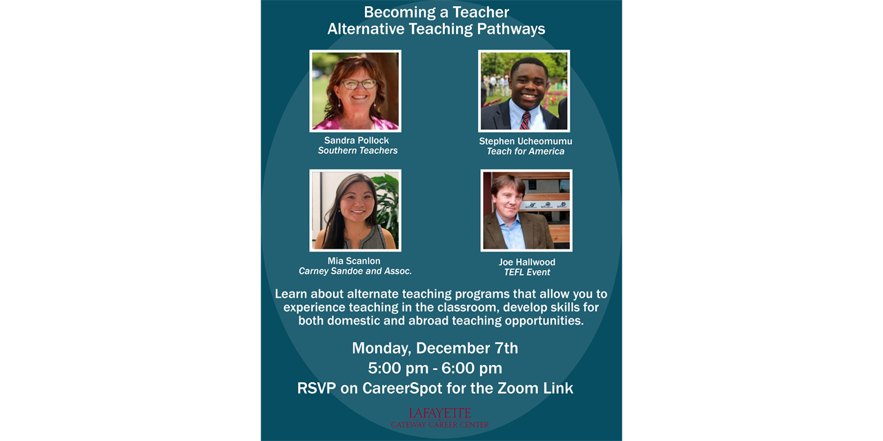 'Becoming A Teacher - Alternative Teaching Pathways' VIRTUAL Panel Discussion Event Logo