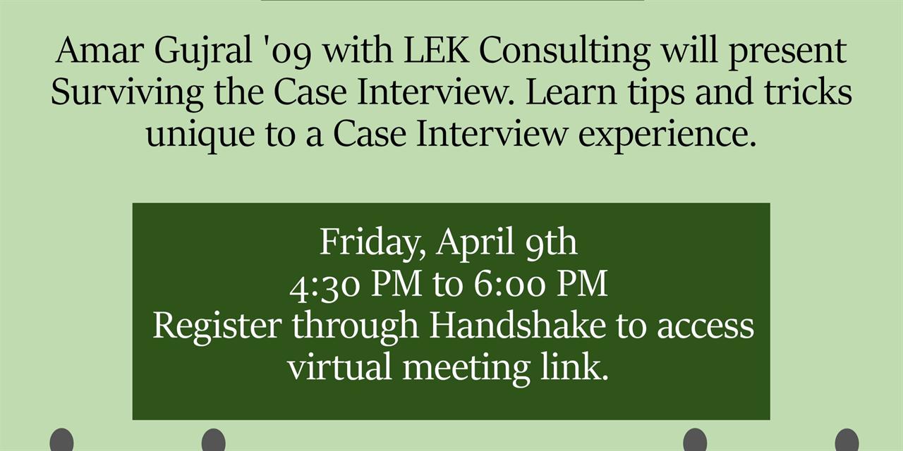 LEK- Virtual Case Interview Prep Info Session Event Logo