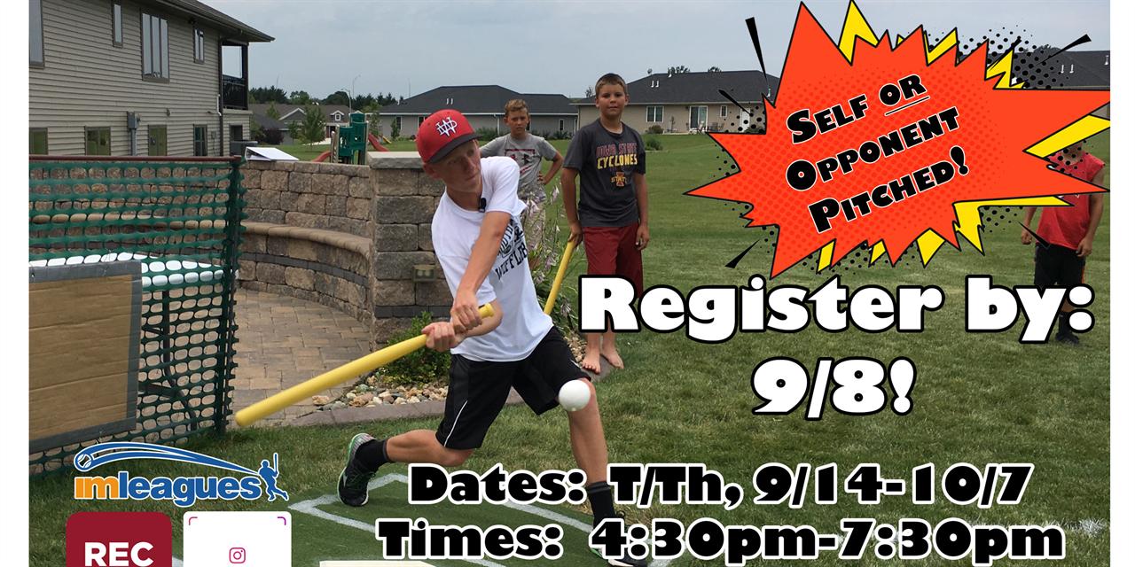Intramural 5v5 Outdoor Wiffleball Registration Deadline Event Logo