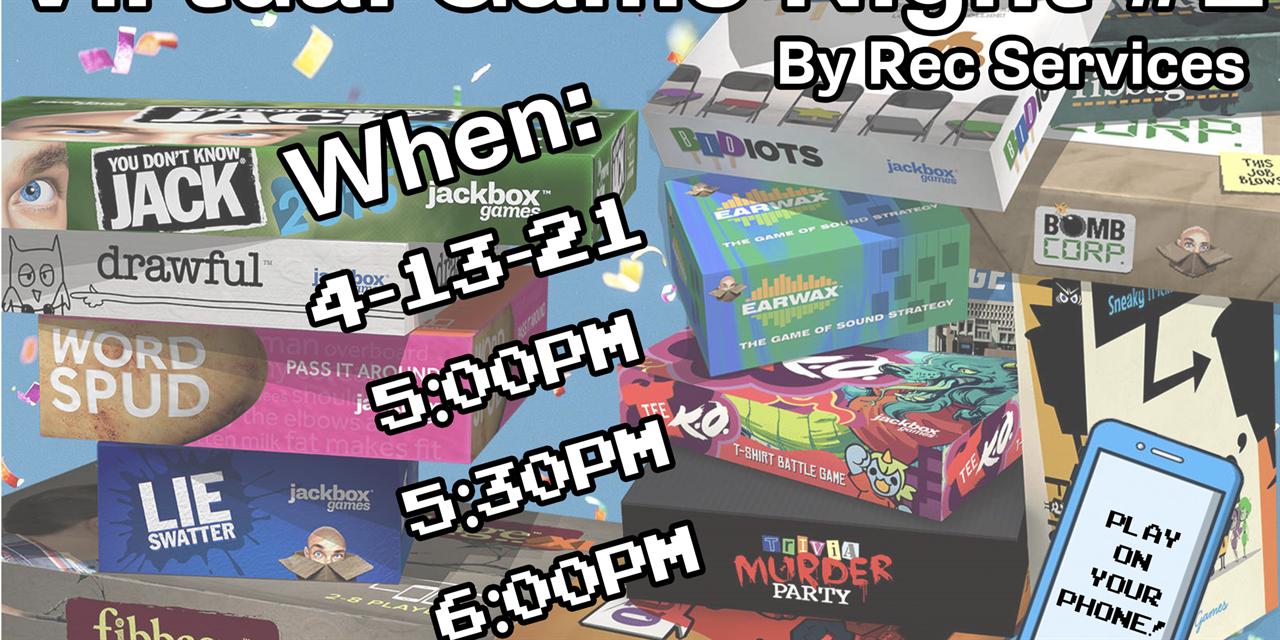 Virtual Game Night #2 - Jackbox Games Event Logo