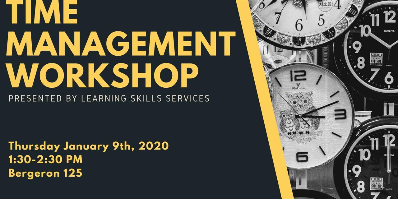 Time Management Workshop Event Logo