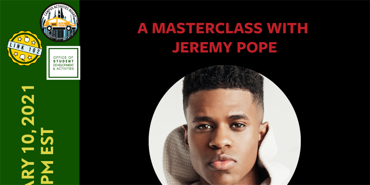 A Masterclass with Jeremy Pope Event Logo