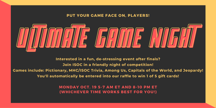Game Night with ISOC!