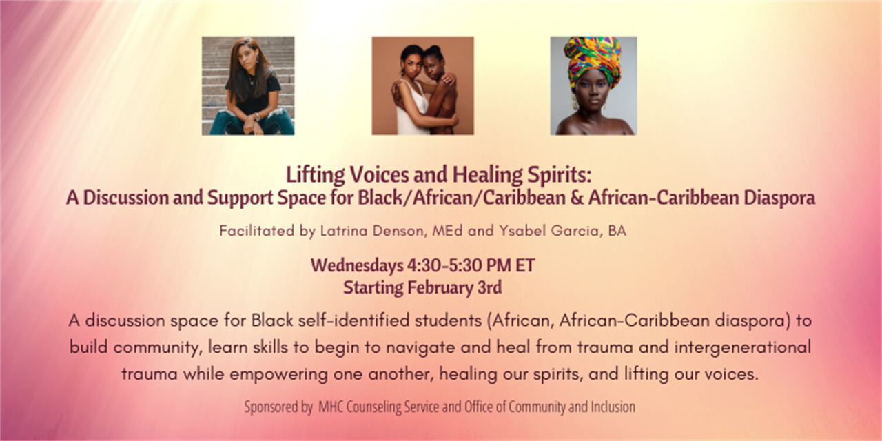 Lifting Voices, Healing Spirits Discussion Space Event Logo