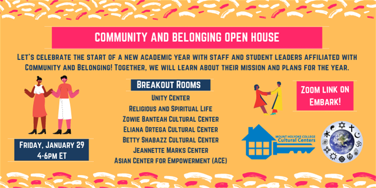 Community and Belonging Open House Event Logo
