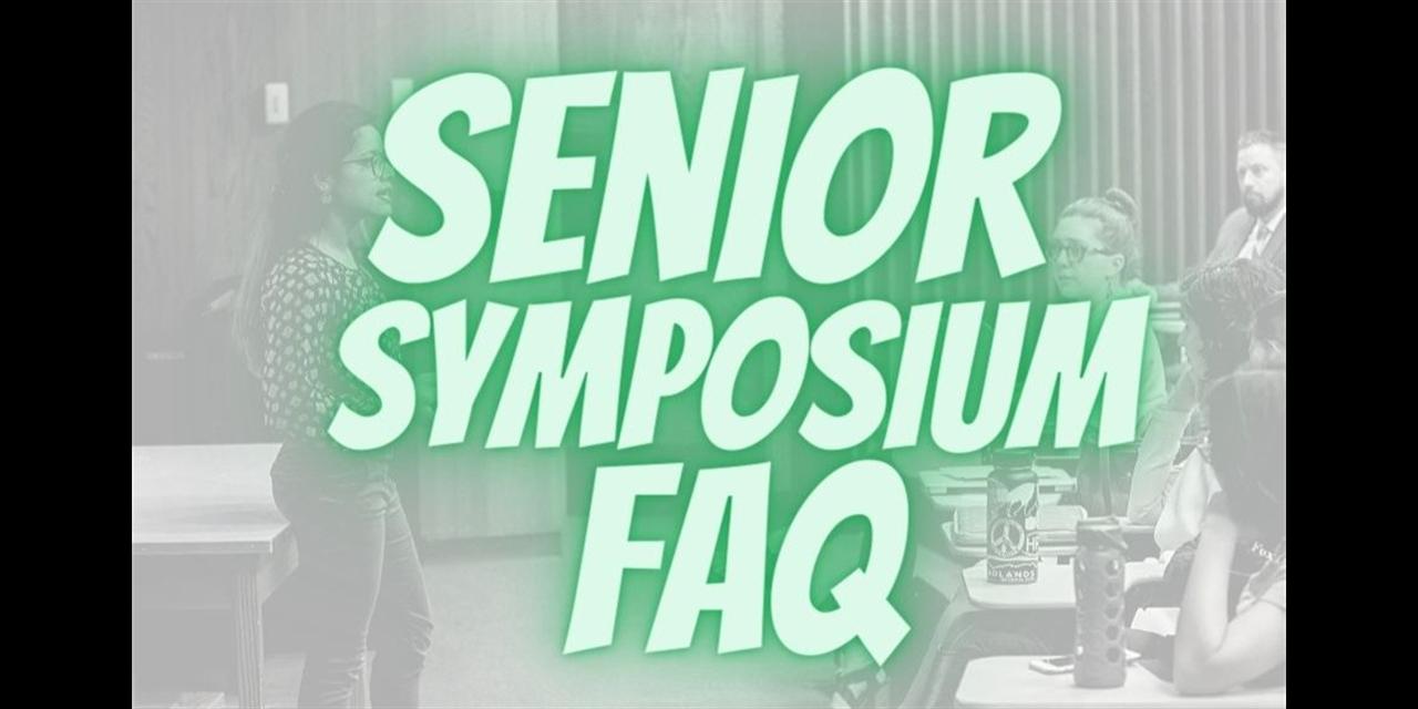 FAQ - Senior Symposium Event Logo