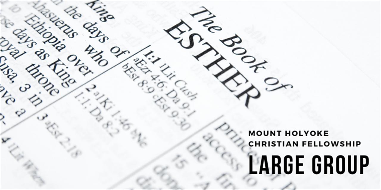 Mount Holyoke Christian Fellowship Large Group Event Logo