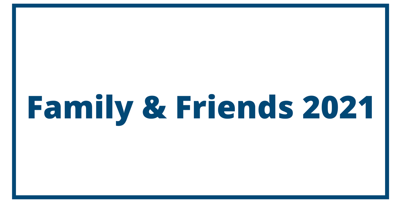 Family and Friends 2021, Check-In Registration Event Logo