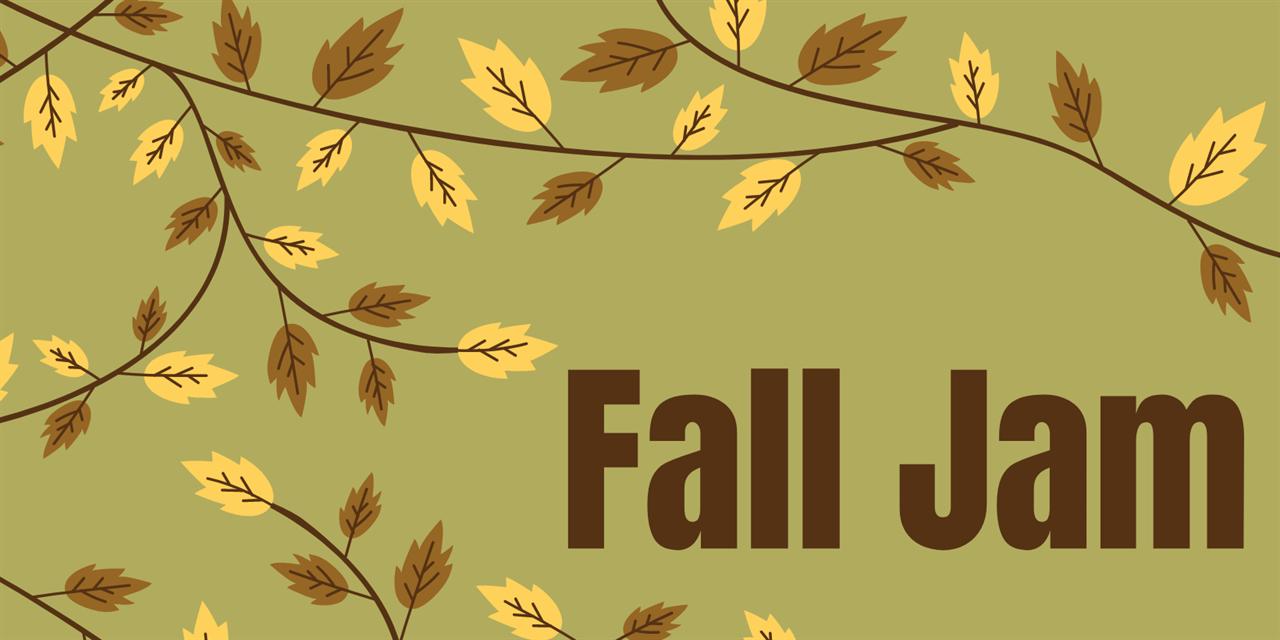 """Fall Jam"" A Cappella Performance Event Logo"
