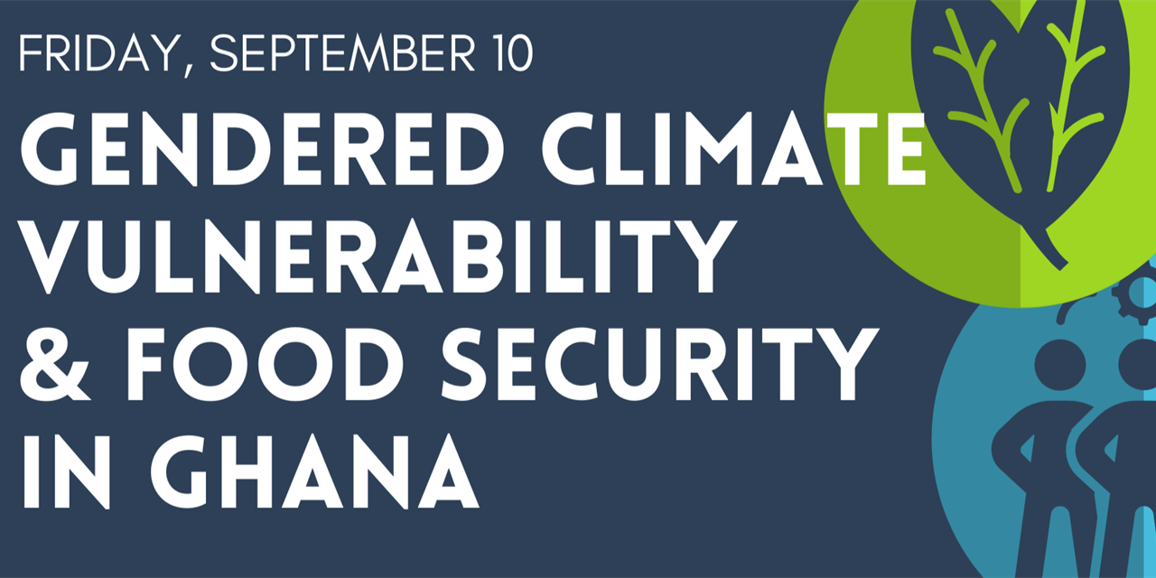 Climate@Noon - Gendered Climate Vulnerability & Food Security in Ghana Event Logo