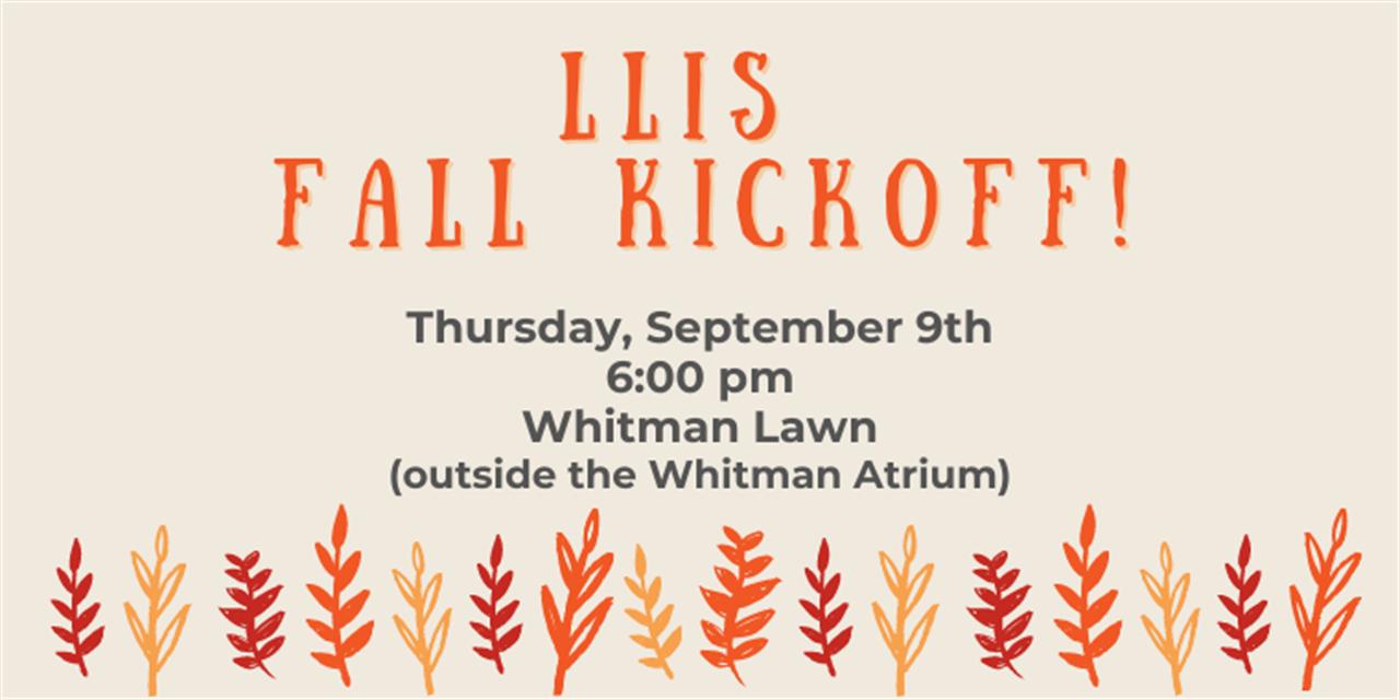 LLIS Fall Kickoff! Event Logo