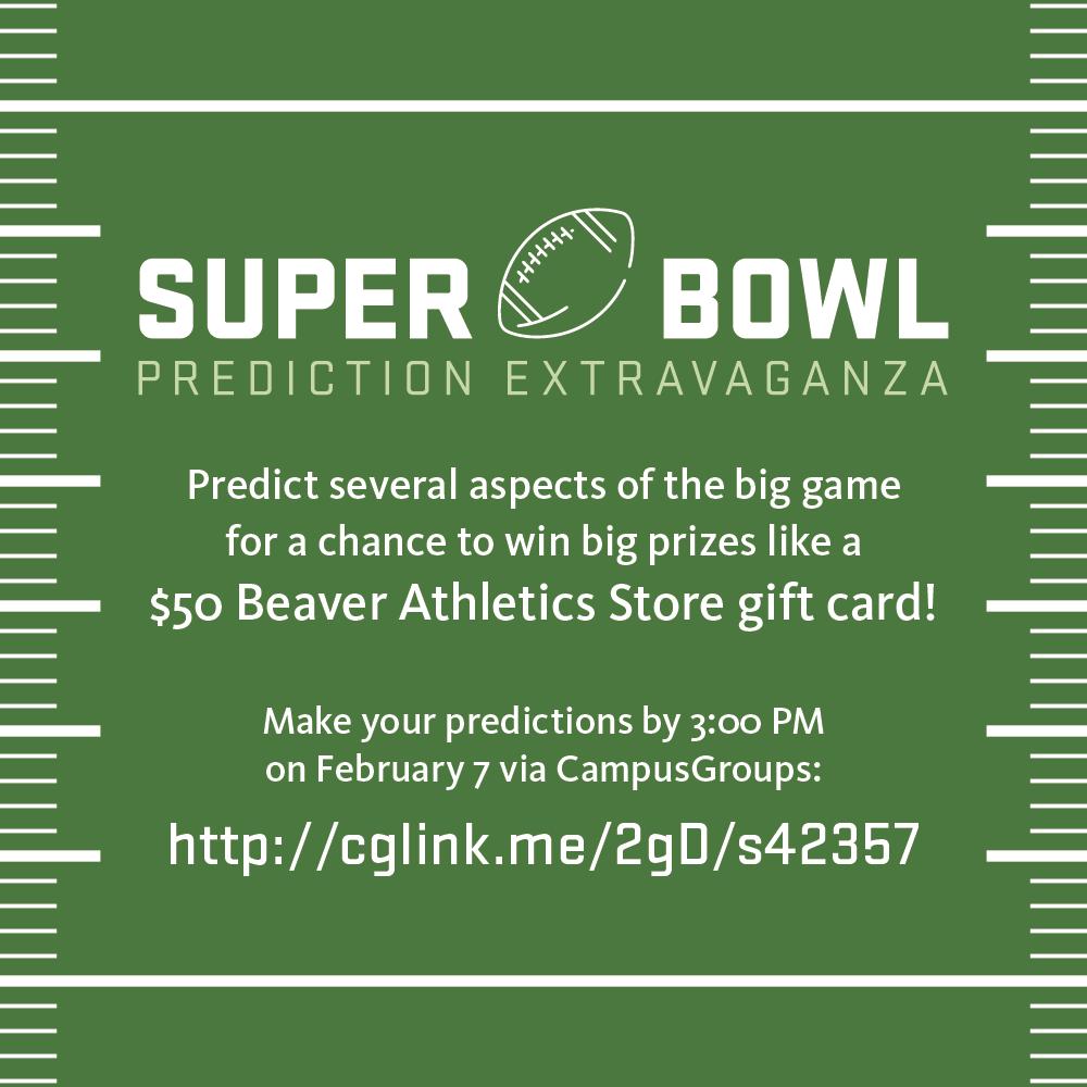 Super Bowl Predictions Due TODAY!