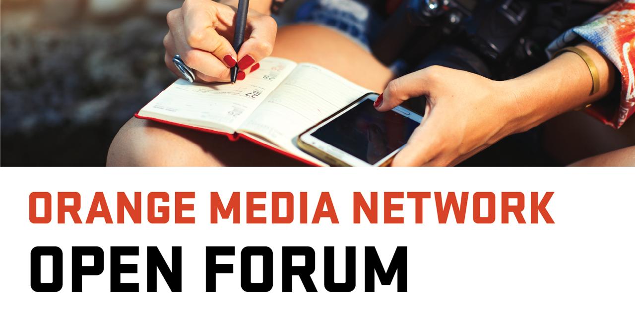 Orange Media Network Open Forum Event Logo