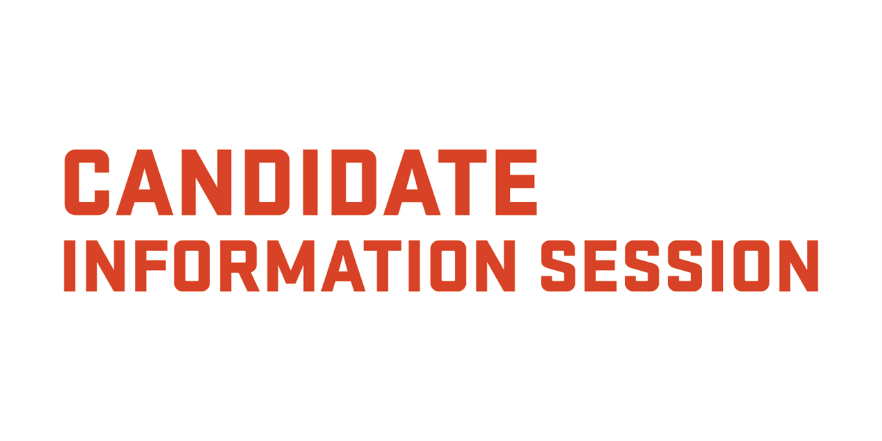 Candidate Information Session Event Logo