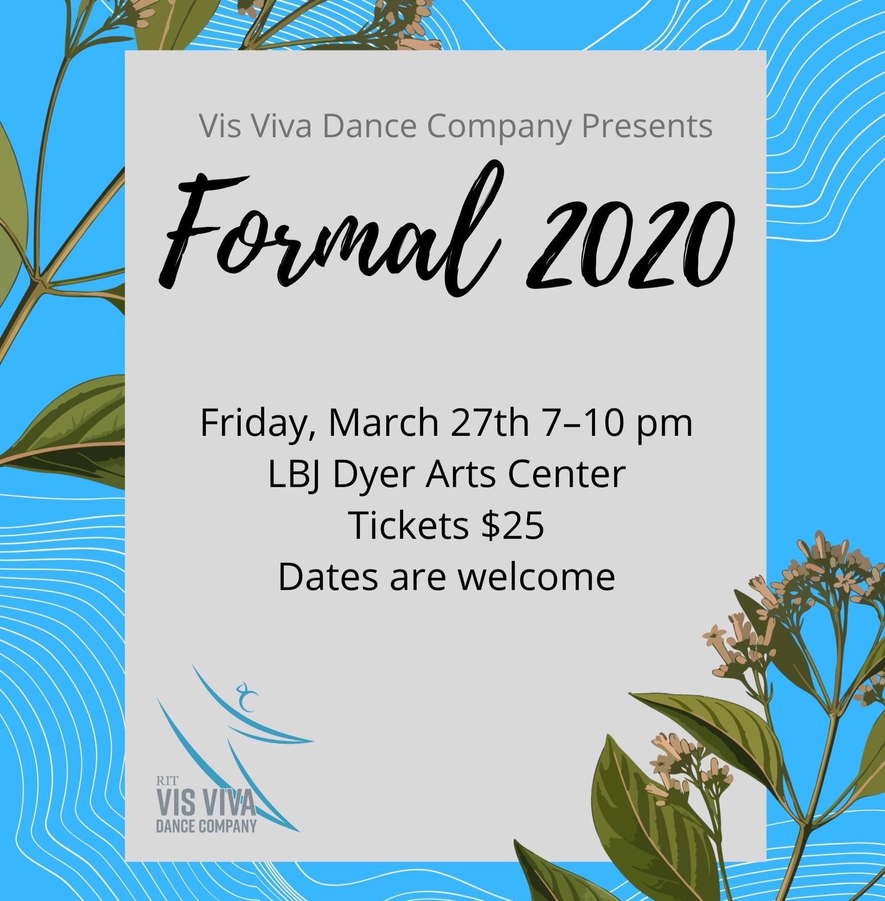 CANCELLED:  Vis Viva Formal 2020