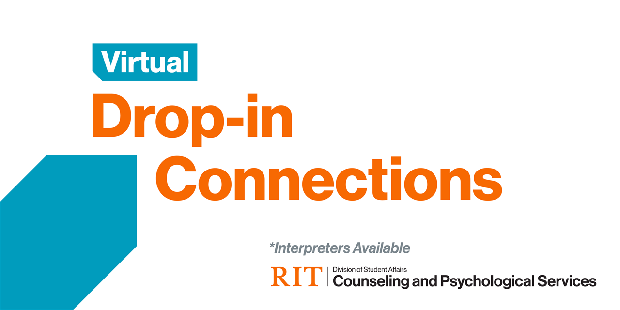 Being an Out-of-State, Remote, or Quarantined Student in the COVID Era: Virtual Drop-in Connections Event Logo