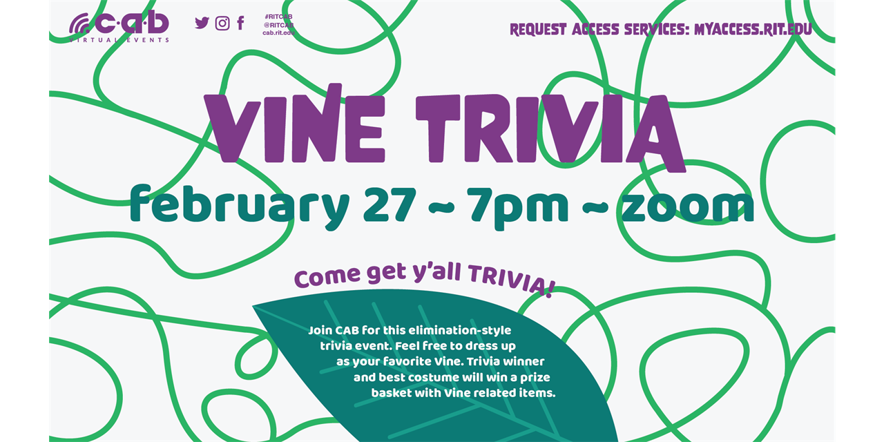 CAB Virtual Presents: Vine Trivia Event Logo