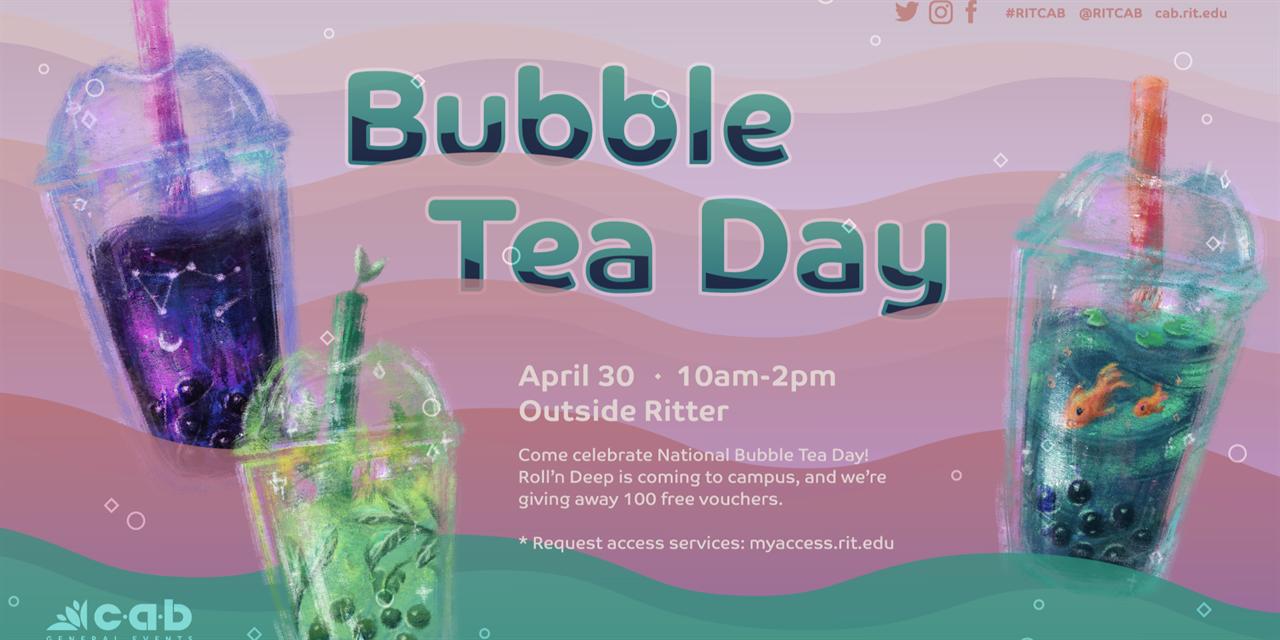 CAB General: Bubble Tea day Event Logo