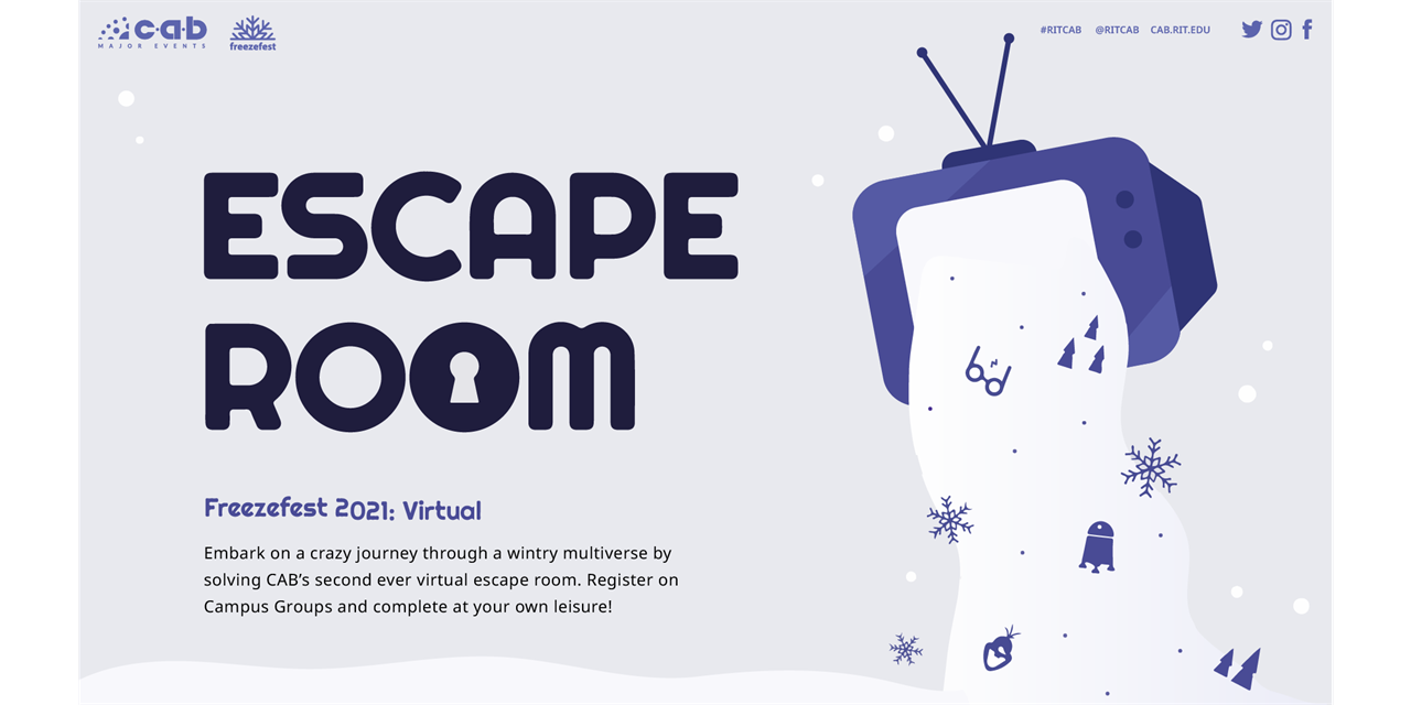 CAB Freezefest Presents: Virtual Escape Room Event Logo