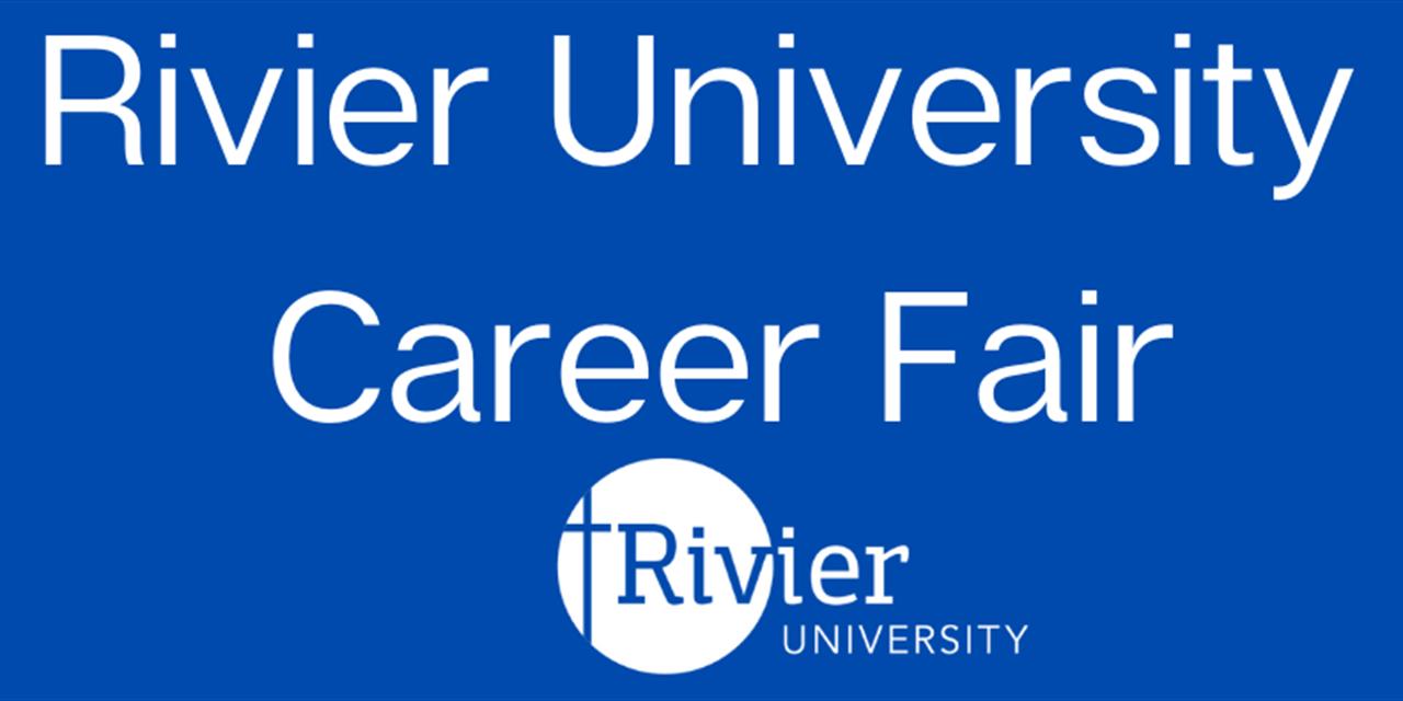 RSVP for Rivier University Virtual Career Fair Event Logo