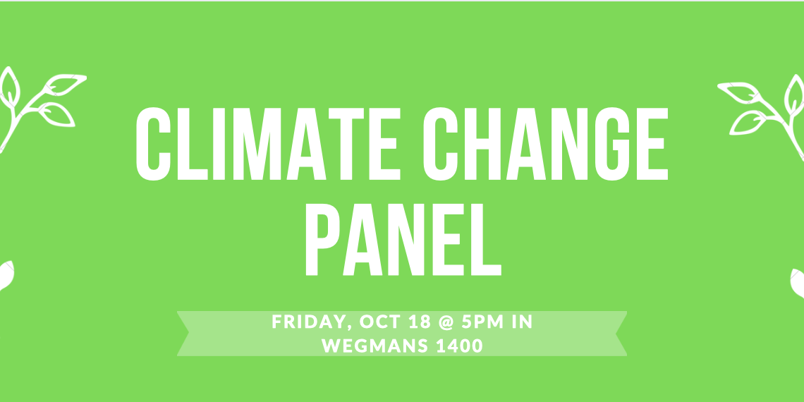 Climate Change Panel Event Logo