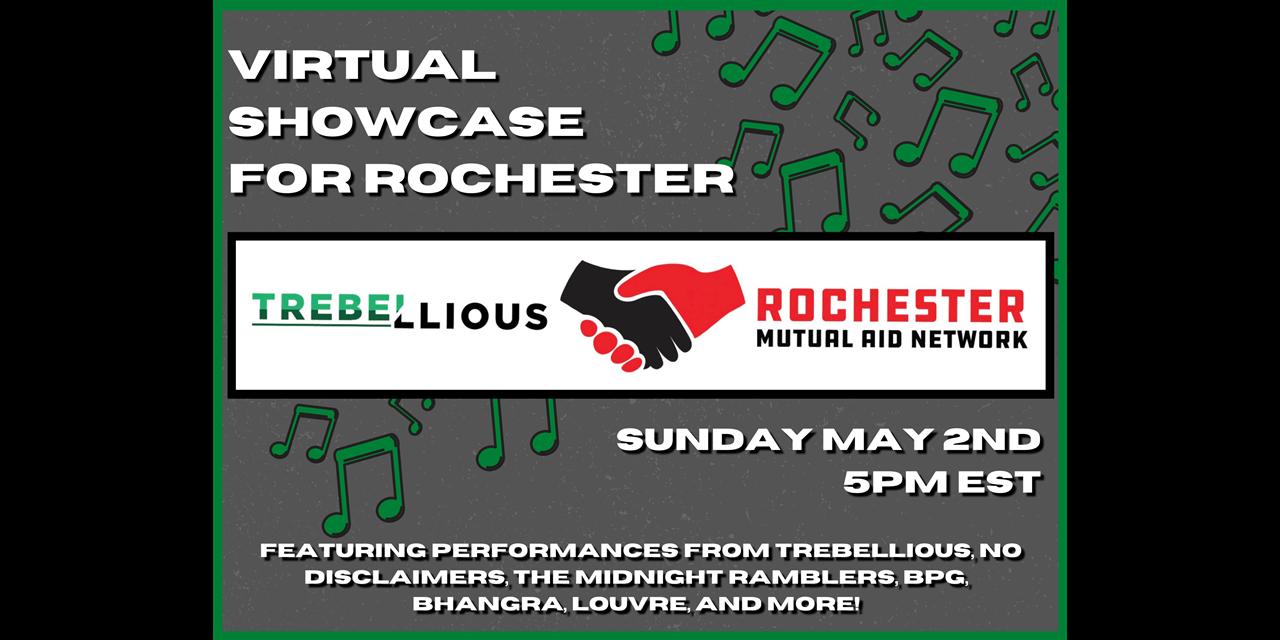 Trebellious' Virtual Showcase for Rochester Event Logo