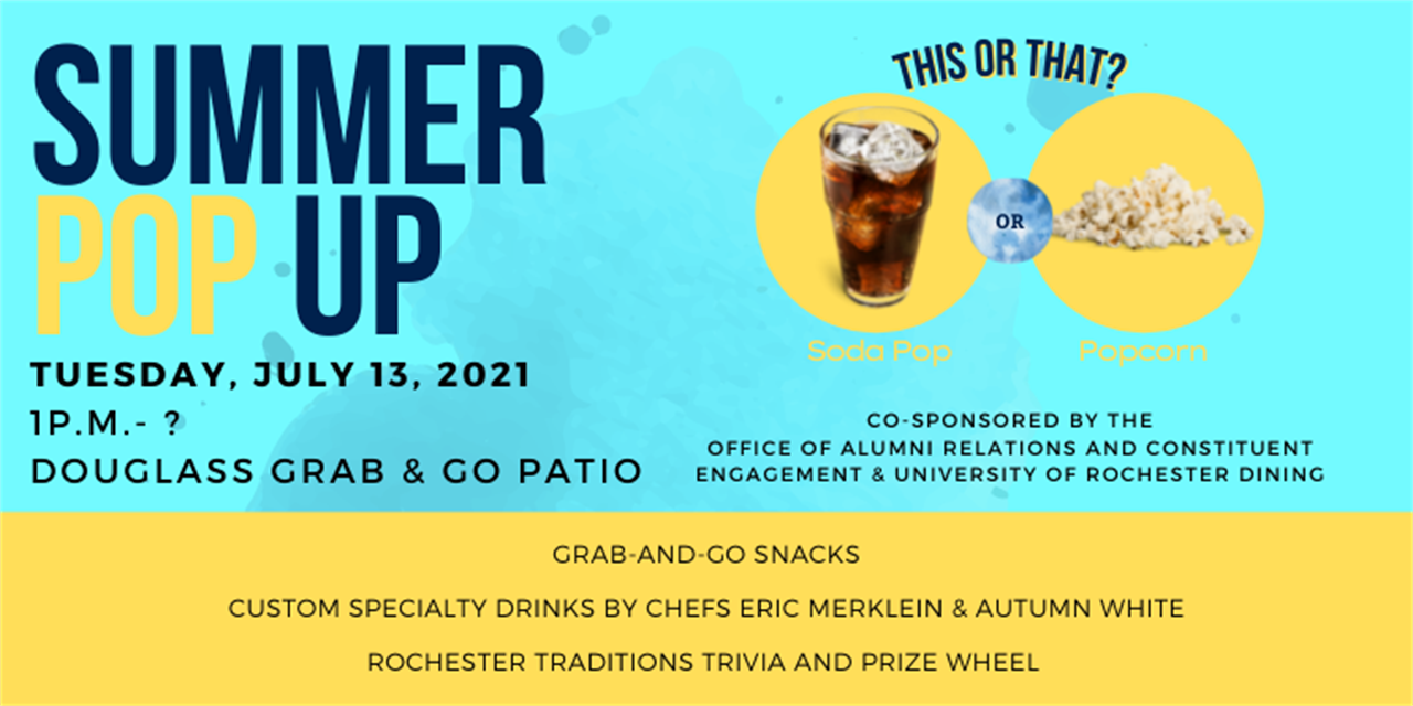Summer POP Up with Alumni Relations and Dining Event Logo