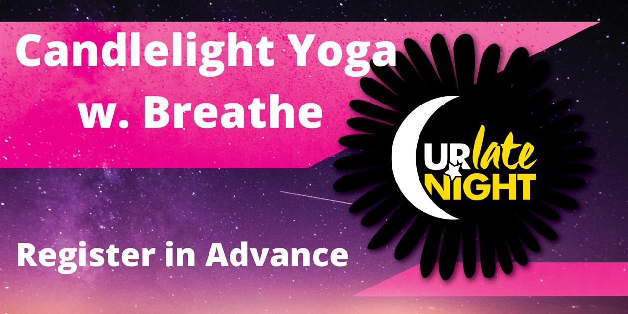 Candlelight Yoga w. Breathe Event Logo