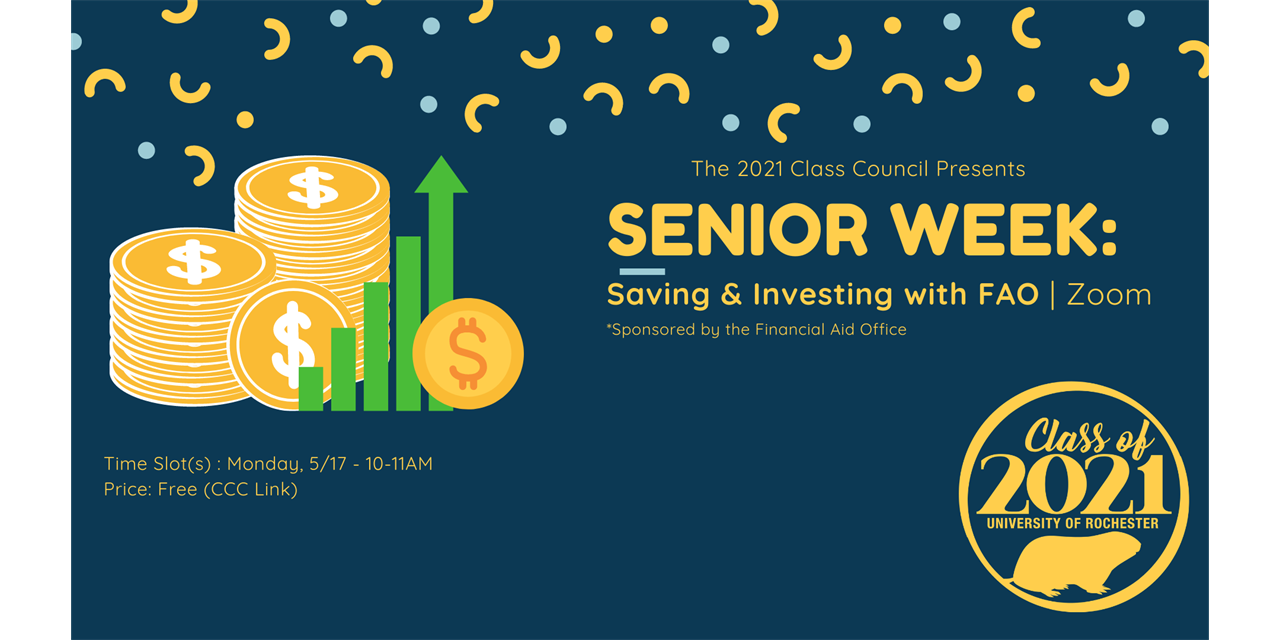 Senior Week: Saving and Investing with the Financial Aid Office Event Logo