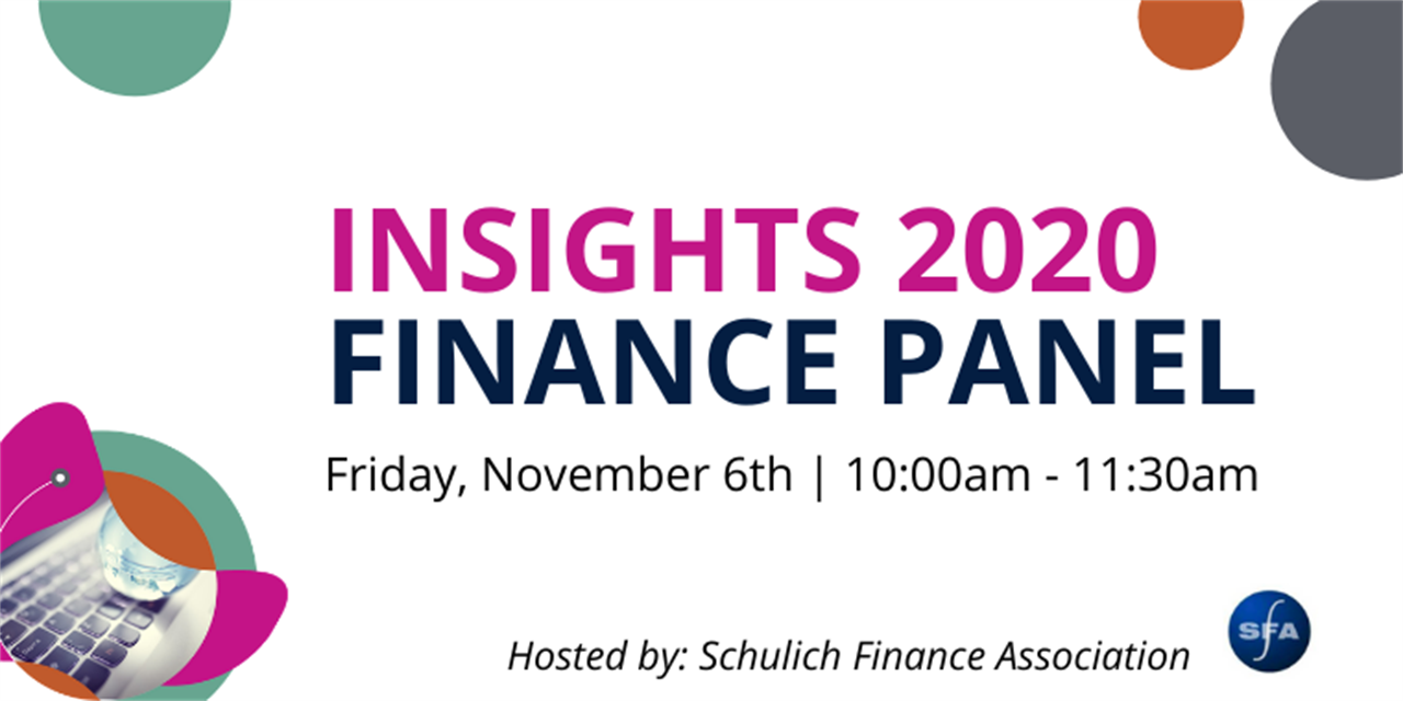 Insights Conference Session ONE: Finance Event Logo