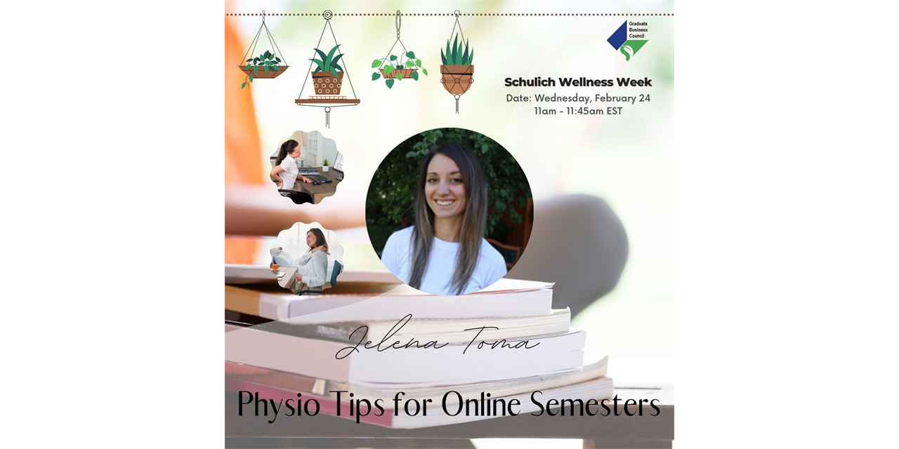 Wellness Week: Physio Tips for Online Semesters Event Logo